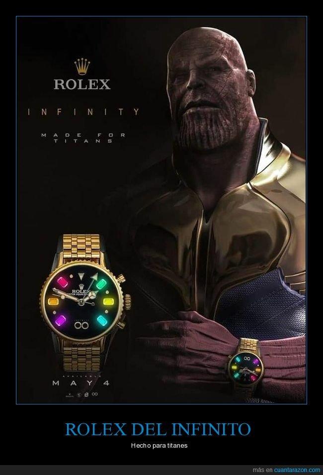 los vengadores,reloj,rolex,thanos