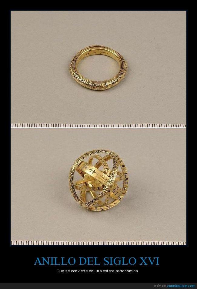 anillo,esfera astronómica,siglo xvi