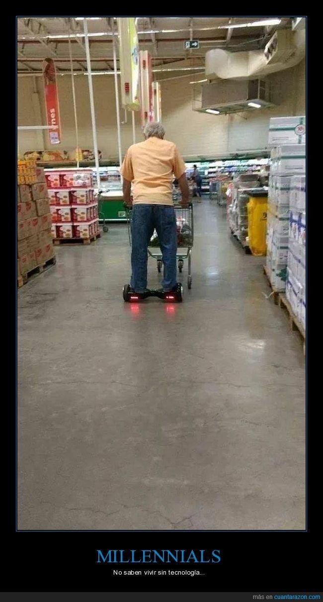 abuelo,hoverboard,supermercado,wtf