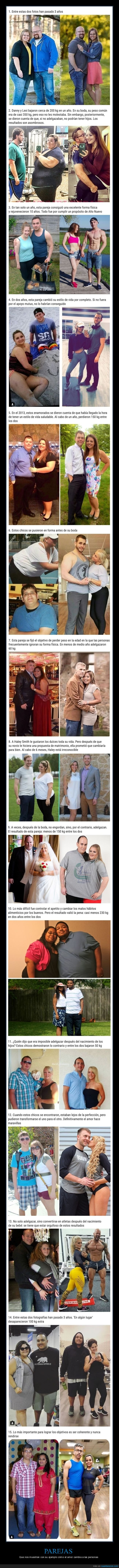 adelgazar,antes,después,parejas,peso