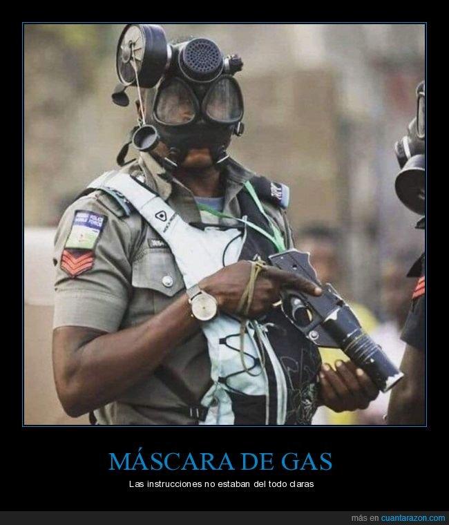 al revés,fails,máscara de gas,soldado