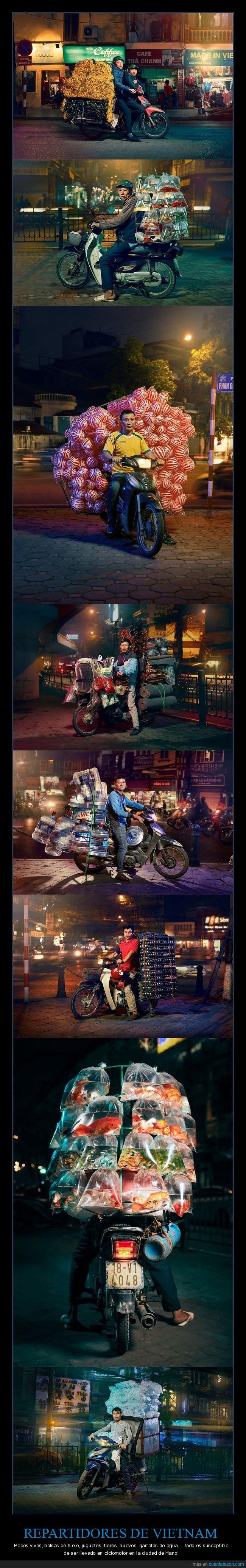 motos,repartidores,vietnam