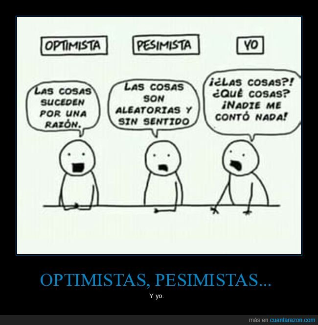 optimista,pesimista