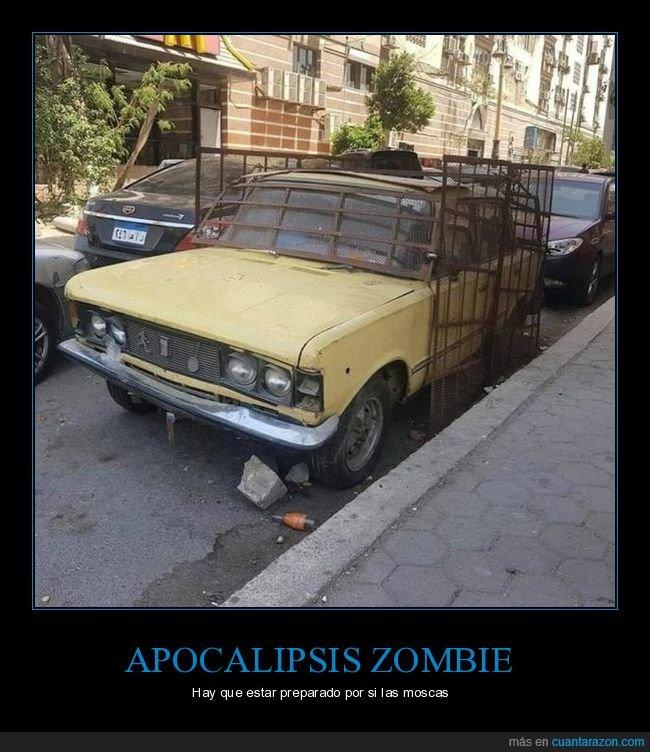 apocalipsis zombie,coche,wtf