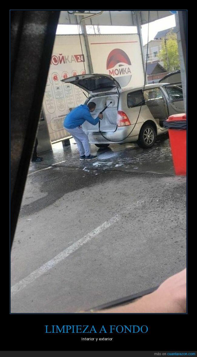 coche,interior,limpiando,wtf