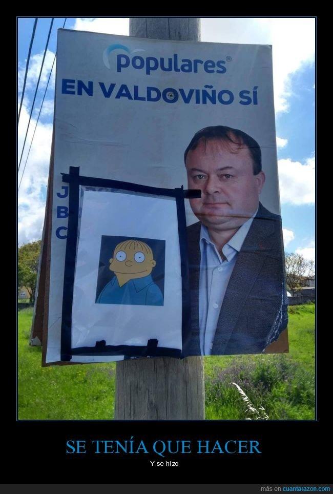 cartel,elecciones municipales,parecidos,políticos,ralph wiggum