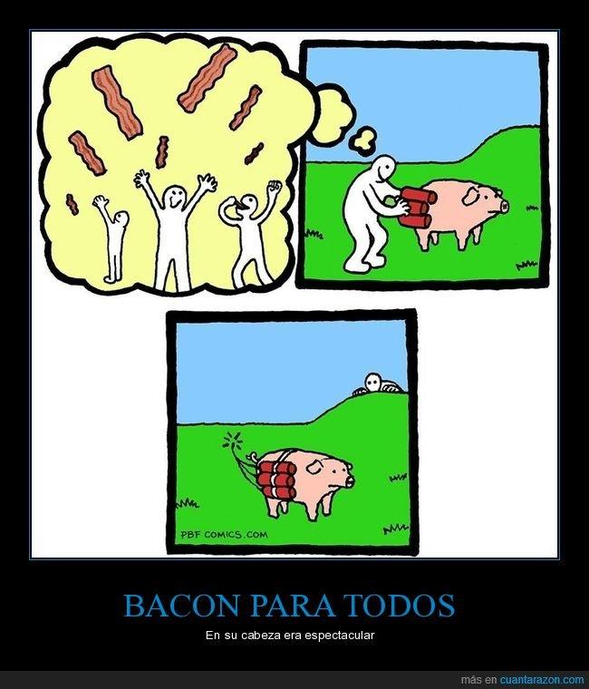 bacon,cerdo,dinamita