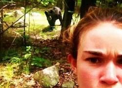 Enlace a Selfie en el bosque