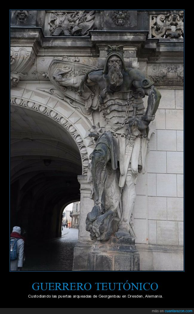 curiosidades,dresden,estatua,georgenbau,guerrero teutónico