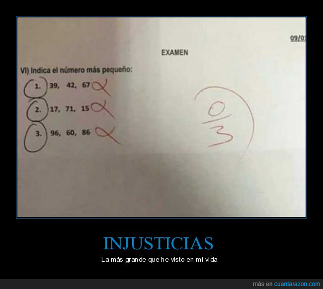 examen,injusticia,número,pequeño