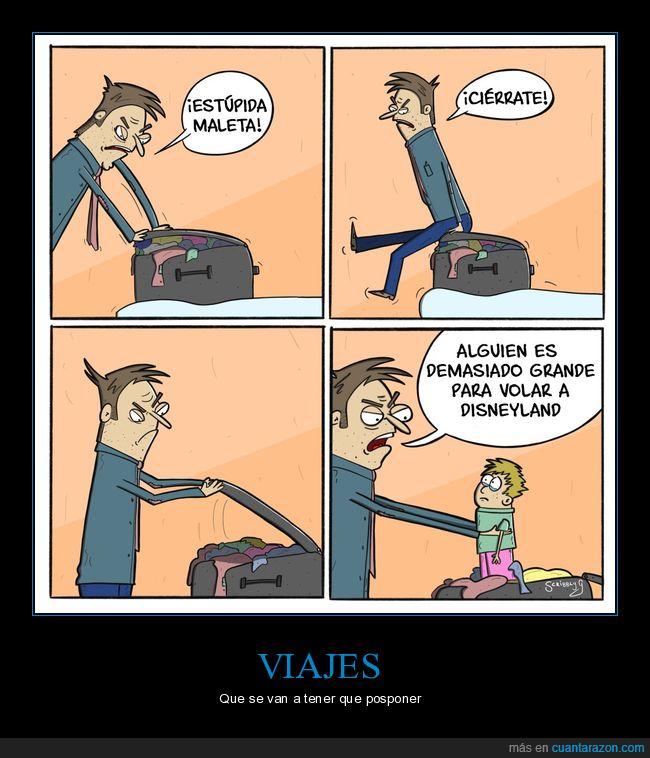 disneyland,hijo,maleta