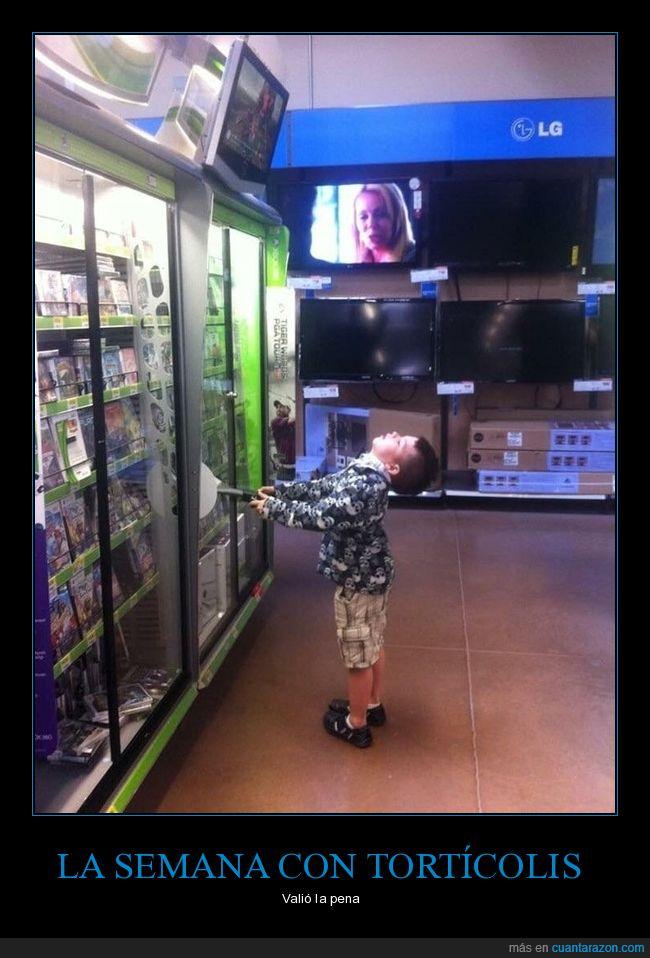 cuello,jugando,niño,pantalla