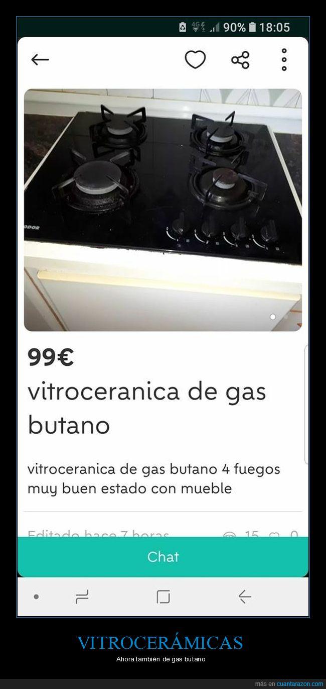anuncio,fail,gas,ortografía,vitrocerámica,wallapop