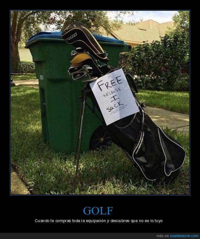 basura,fails,golf
