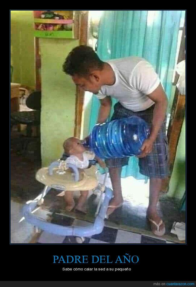agua,bebé,garrafa,padre,padres del año