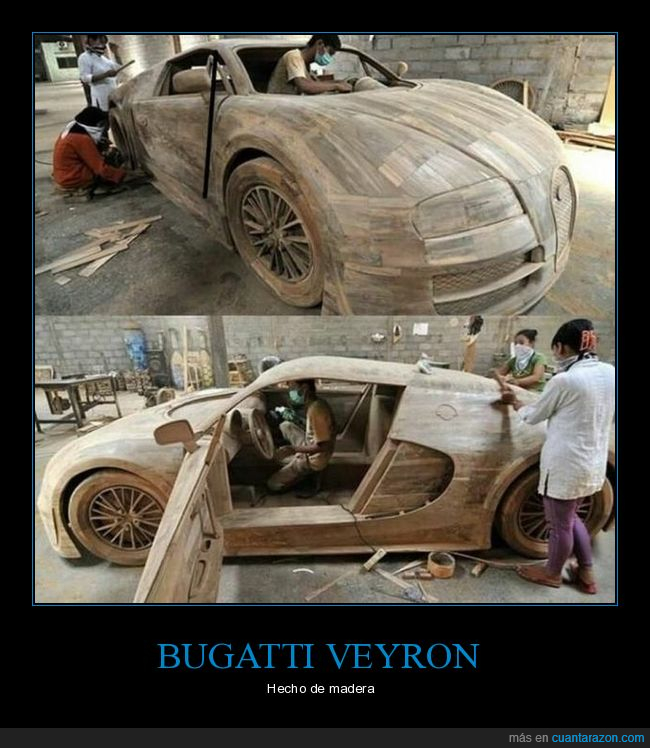 bugatti veyron,coche,madera