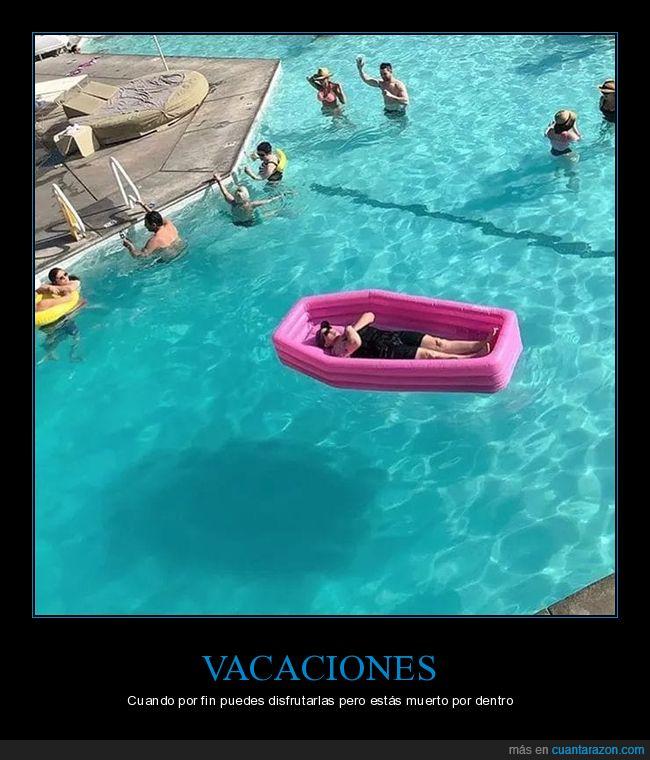 ataúd,colchoneta,piscina