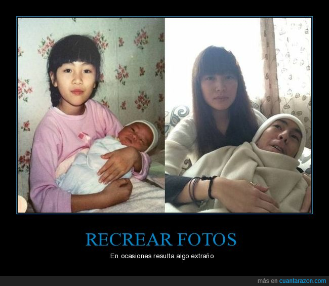 bebé,foto,madre,recreando
