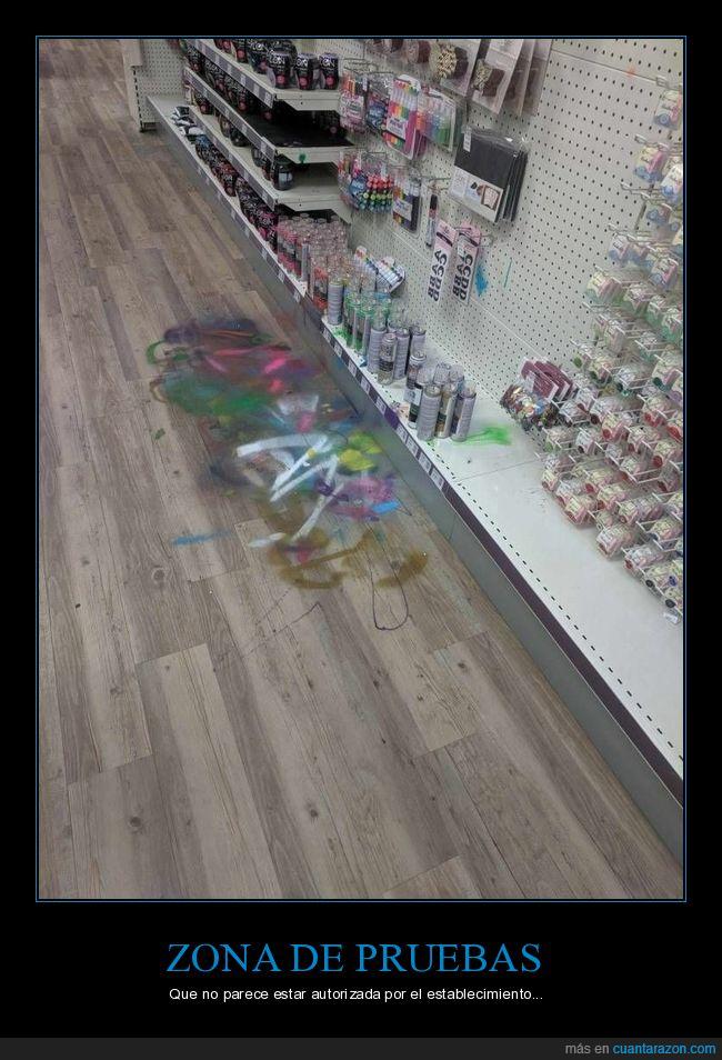 pintura,tienda,zona de pruebas