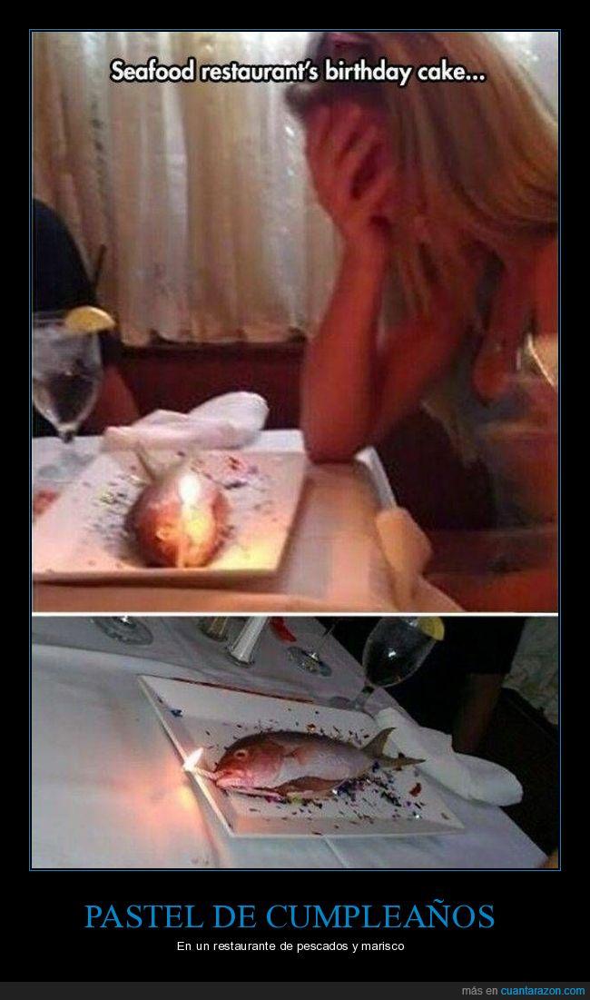 cumpleaños,pastel,pez,wtf