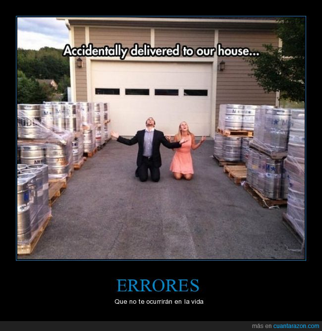 barriles,cerveza,entrega,error