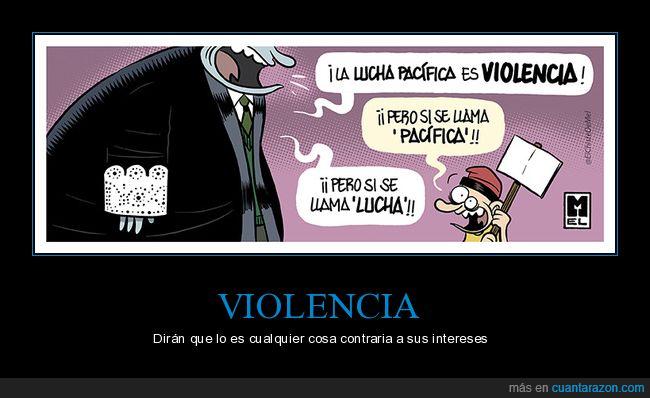 lucha,pacífica,violencia