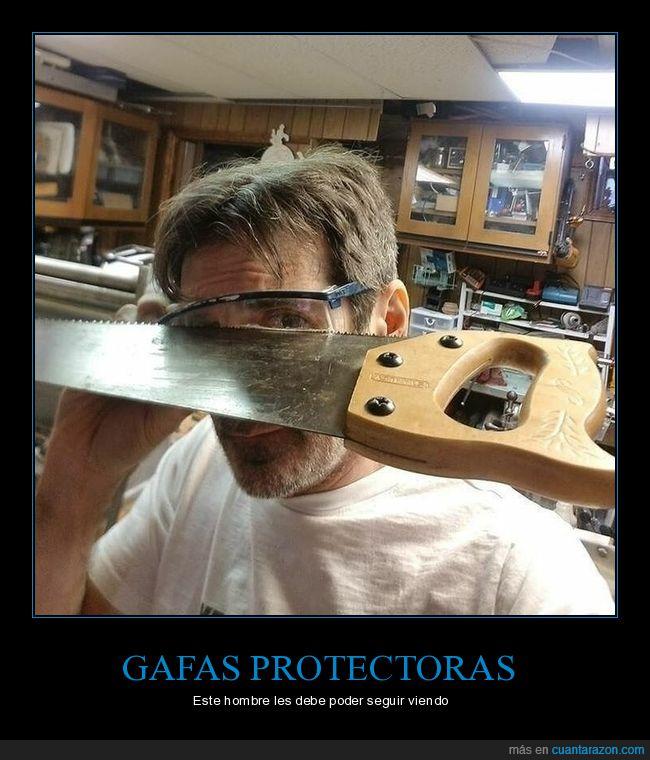 fails,gafas protectoras,sierra,wtf