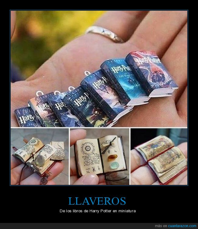 harry potter,libros,llaveros,miniatura