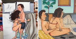 Enlace a Ilustraciones que muestran lo que pasa en la intimidad de cada relación