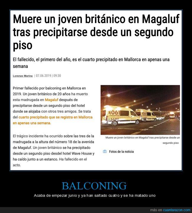 balconing,inglés,magaluf