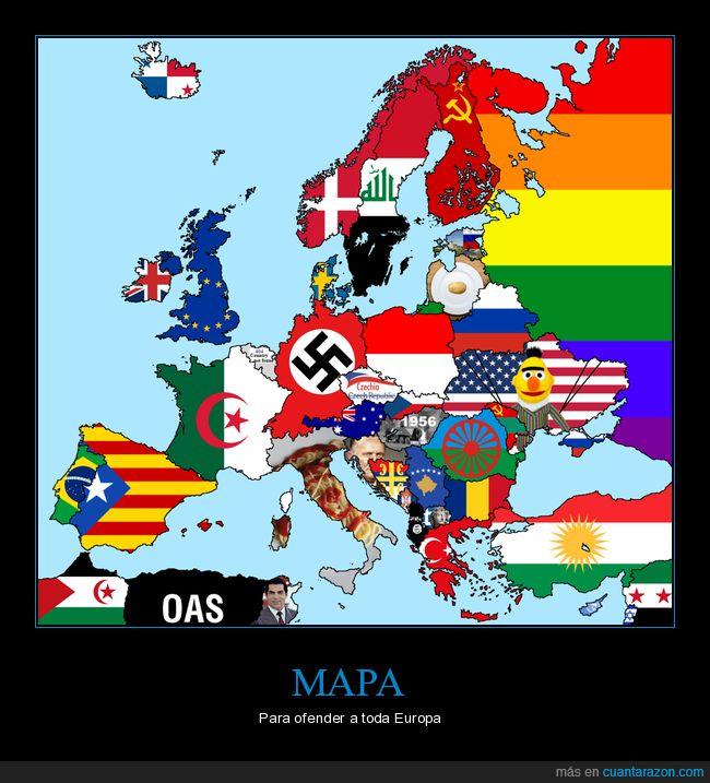 banderas,europa,mapa,ofender