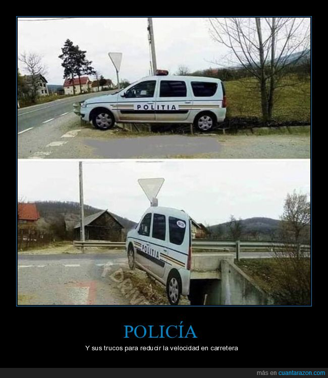 cartón,coche,policía,wtf