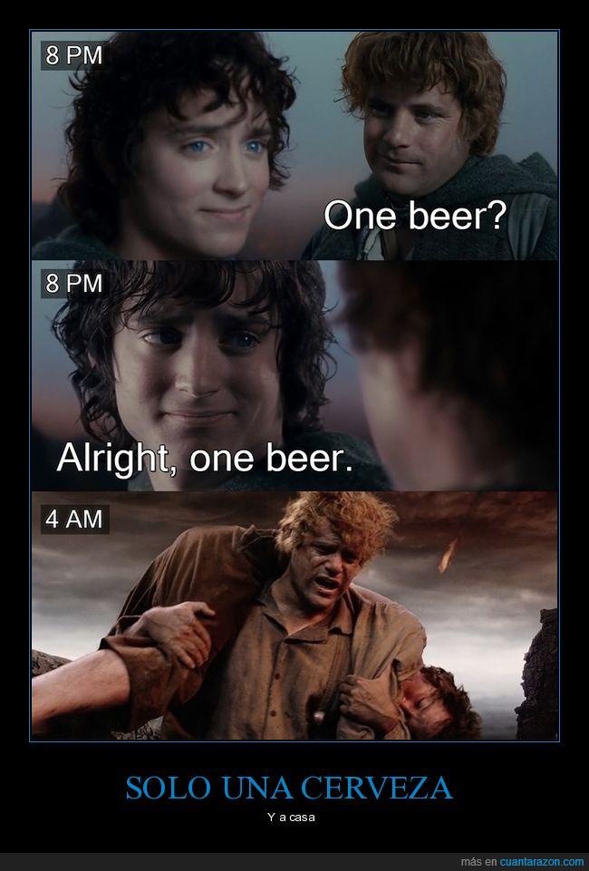 4am,cerveza,el señor de los anillos,una