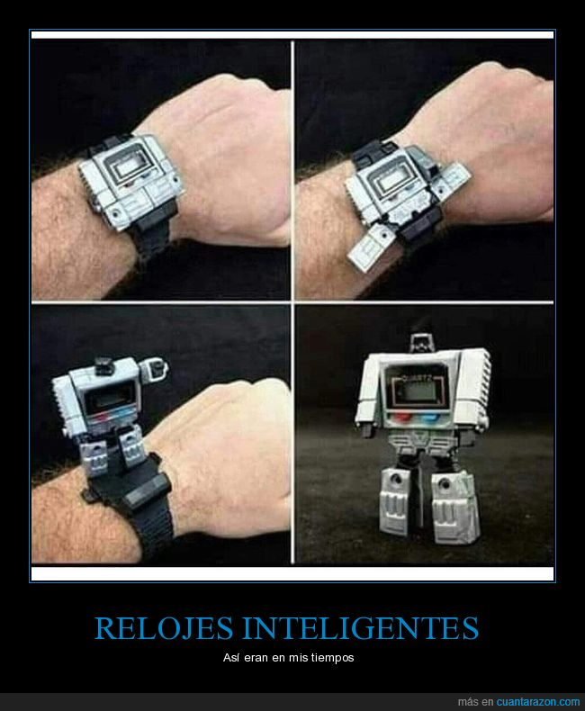 reloj,retro,transformers