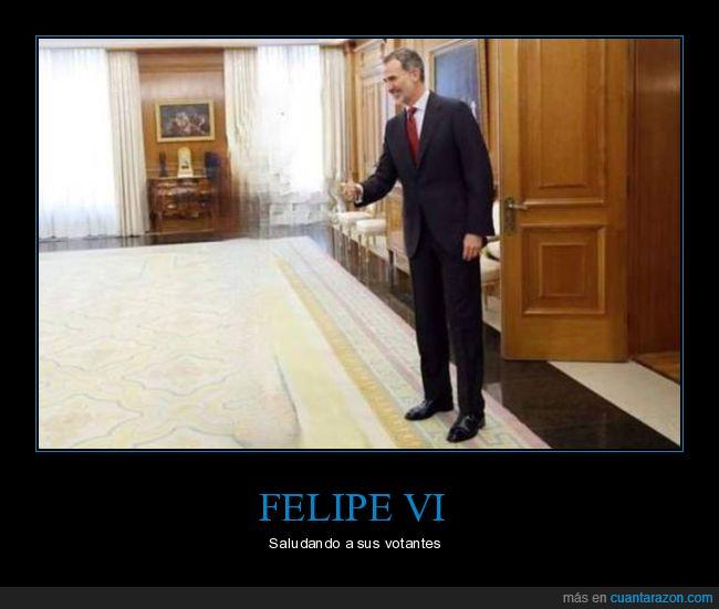 felipe vi,rey,saludando,votantes