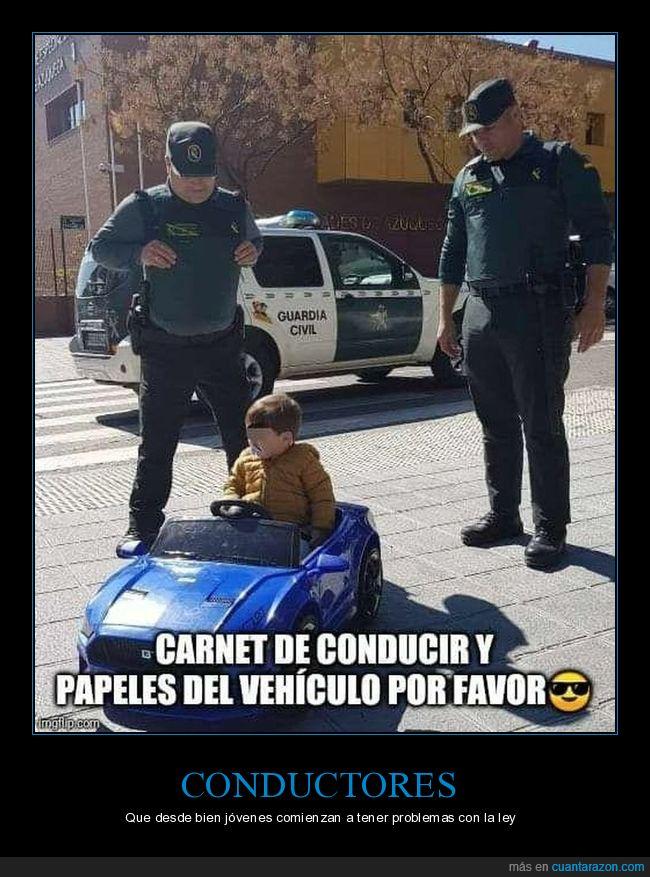 coche,guardia civil,niño