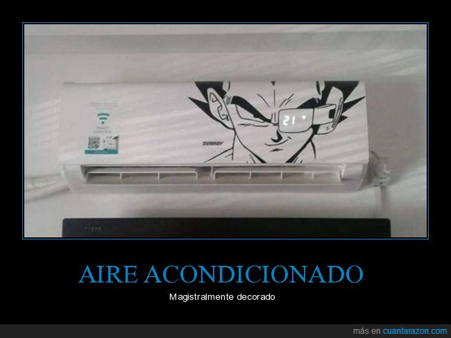 aire acondicionado,dragon ball,temperatura,vegeta