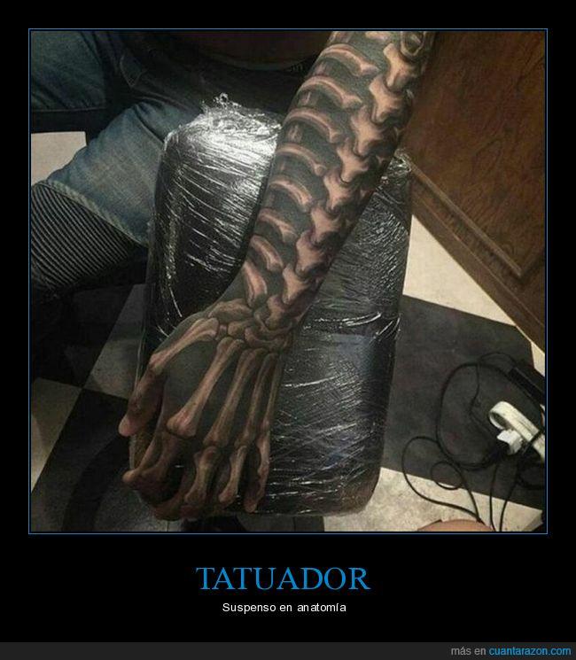 brazo,fails,huesos,tatuaje