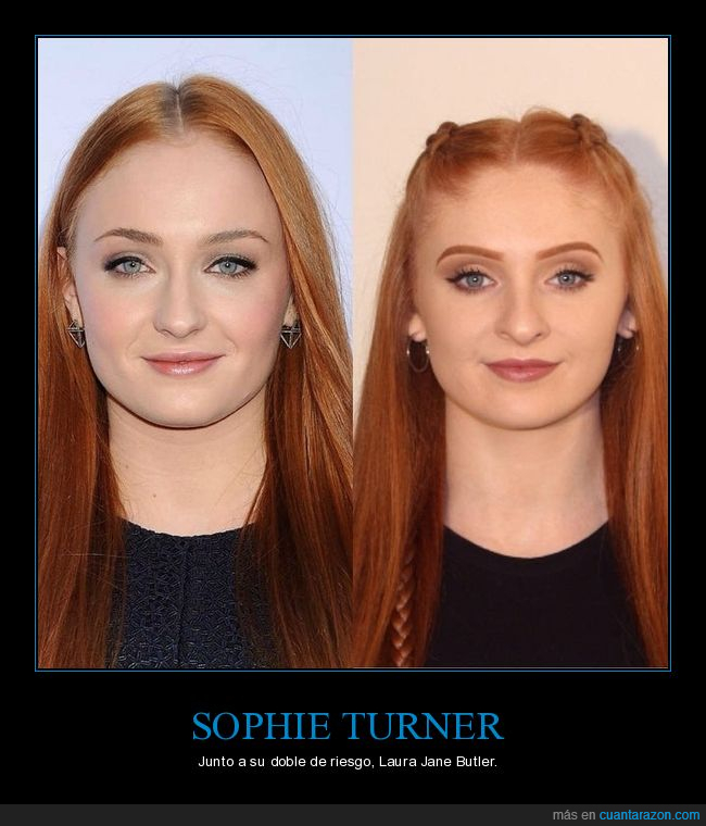 doble,parecidos,sophie turner