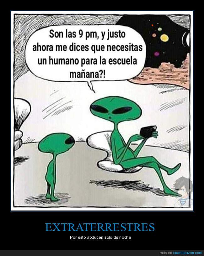 abducir,colegio,extraterrestres,hijo,humano,noche