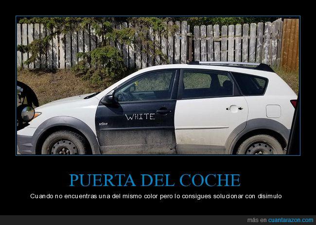 blanco,coche,color,puerta