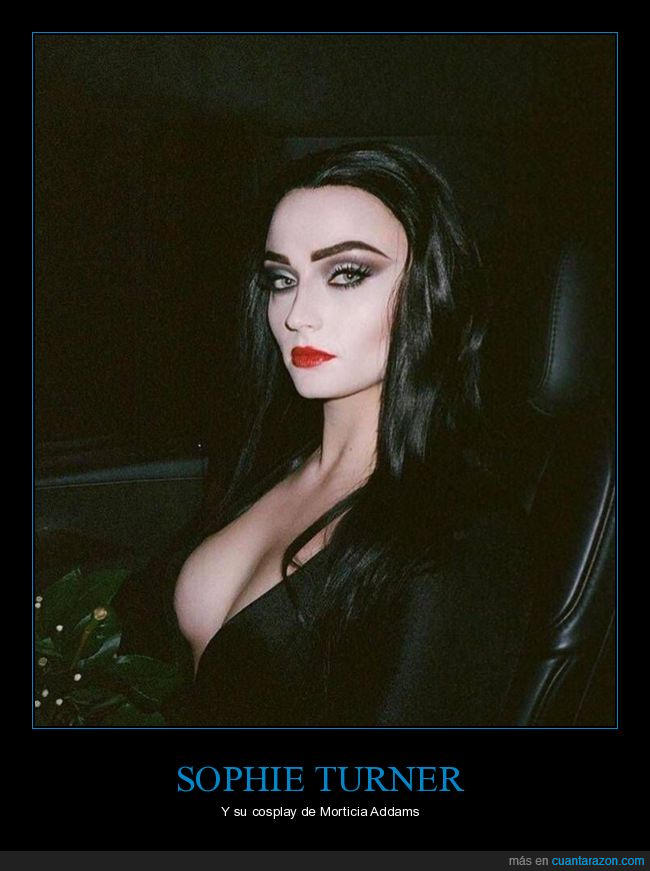 cosplay,morticia addams,sophie turner