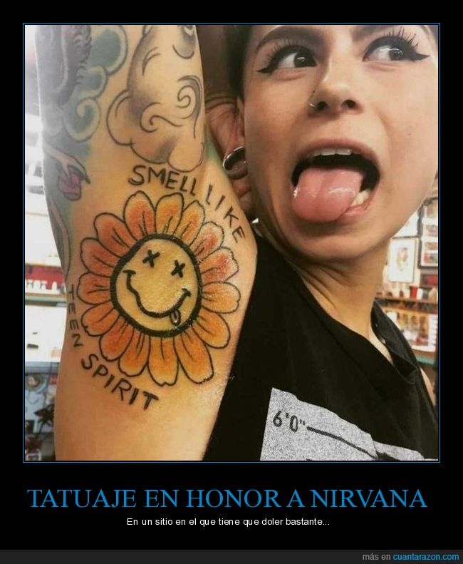 axila,nirvana,smells like teen spirit,tatuaje