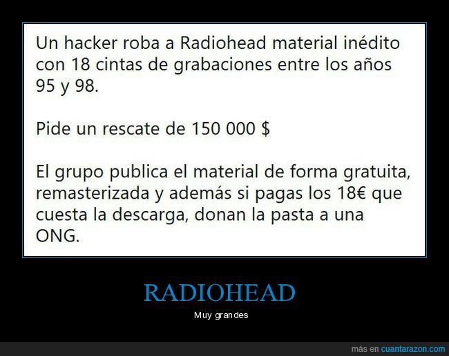 donar,gratis,hacker,material inédito,ong,publicar,radiohead,rescate,robo