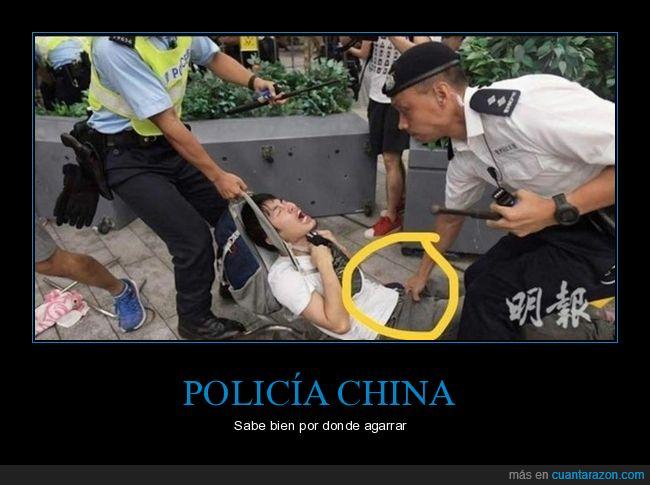 agarrando,policía,wtf