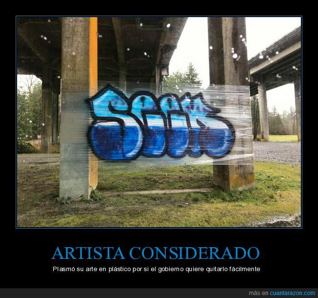 artista,considerado,graffiti,plástico