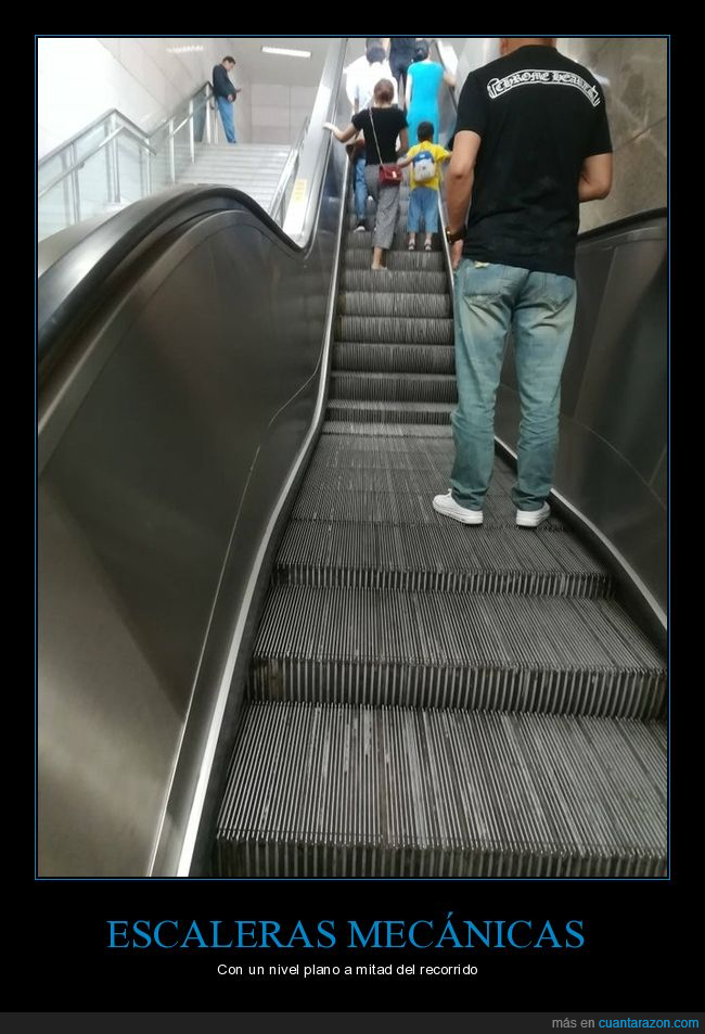 escaleras mecánicas,plano,wtf