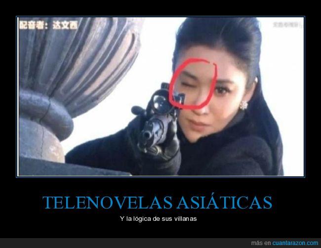 fails,ojo,rifle,telenovela asiática