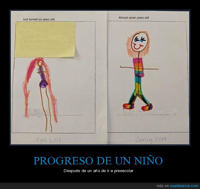niño,preescolar,progreso