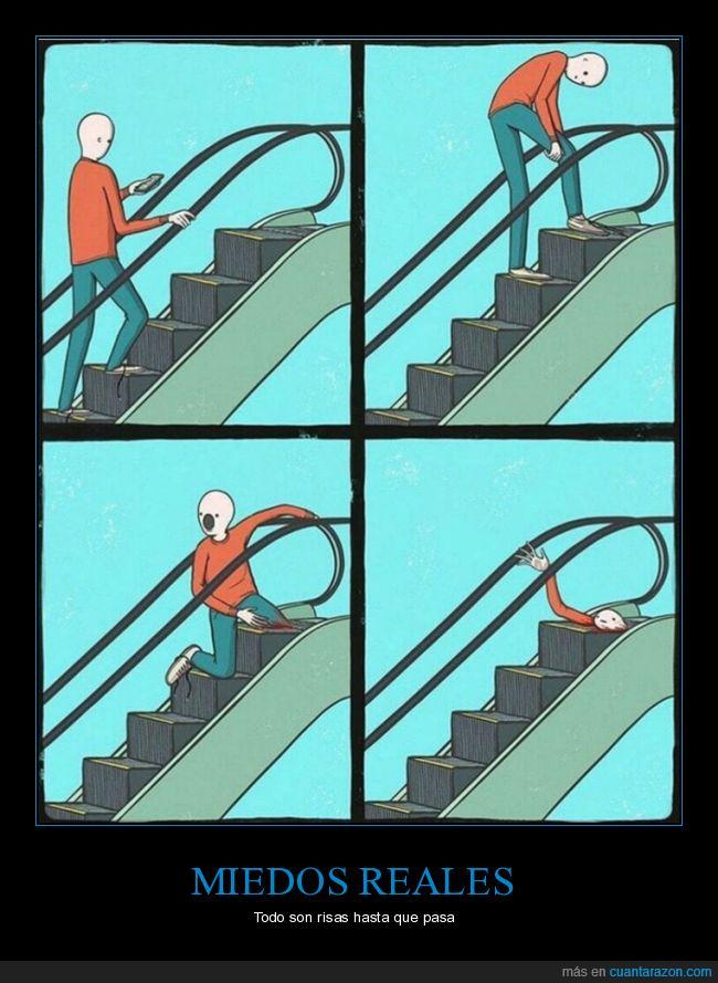 escaleras mecánicas,miedo